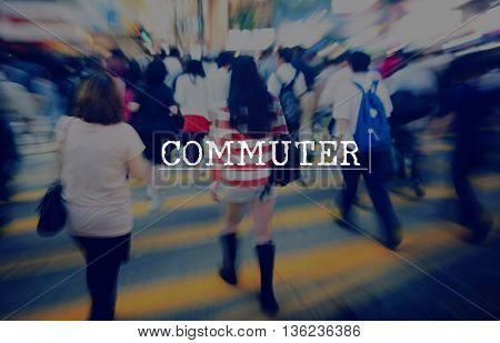 Commuter Commuting Business Travel transportation Concept