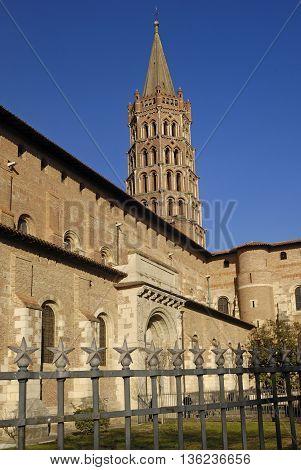 Basilica of Saint Sernin in Toulouse France