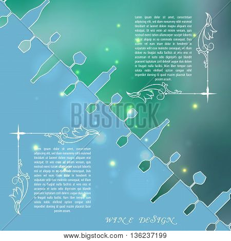 Vector illustration. To use on a flayer, booklets, printed materials, a concept of the sites.