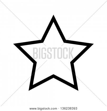 Star vector icon on white