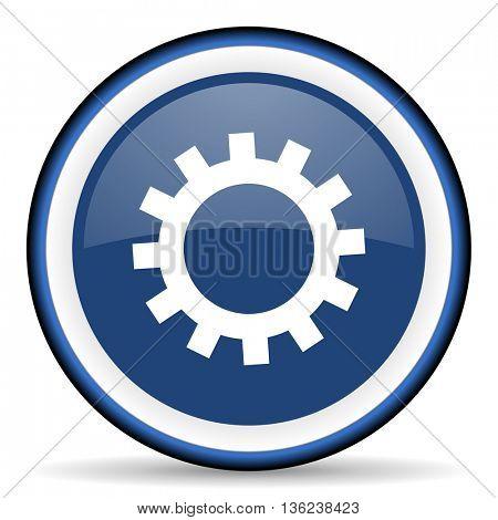 gear round glossy icon, modern design web element