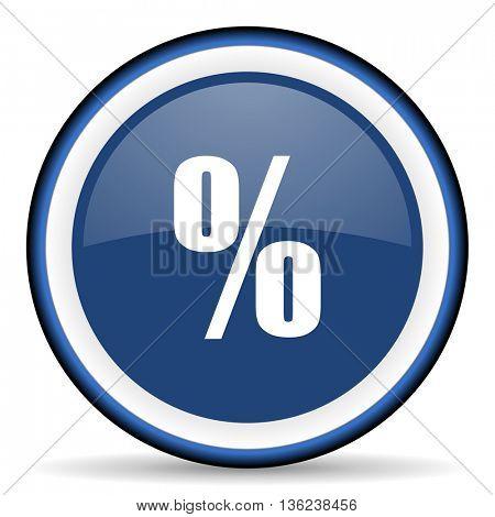 percent round glossy icon, modern design web element