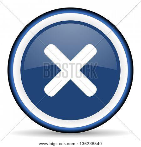 cancel round glossy icon, modern design web element
