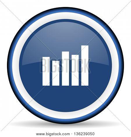 graph round glossy icon, modern design web element