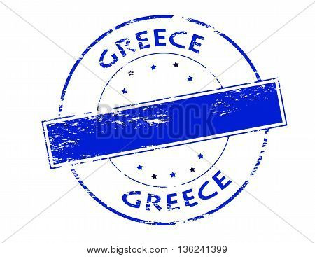 Rubber stamp with word Greece inside vector illustration