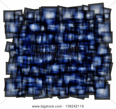 abstract vector illustration square blue fill. jagged edges gray