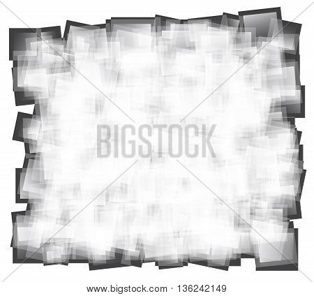 abstract gray square with jagged edges. vector illustration background