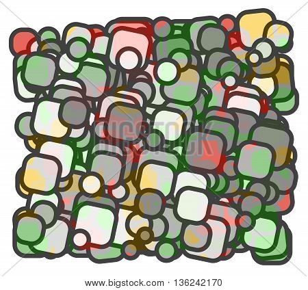abstract colorful squares with rims superposed. vector illustration background