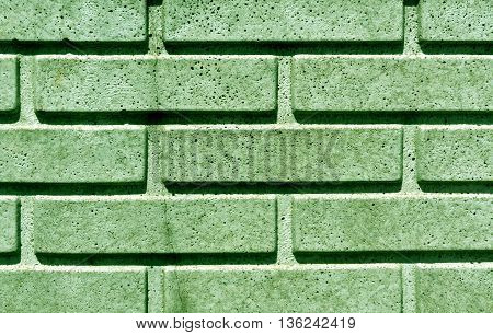 Green Stylized Brick Wall Texture.