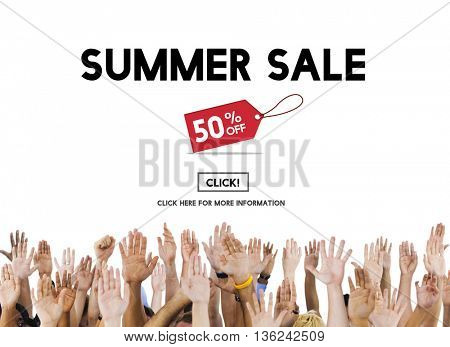 Summer Sale Advertising Discount Promotion Concept