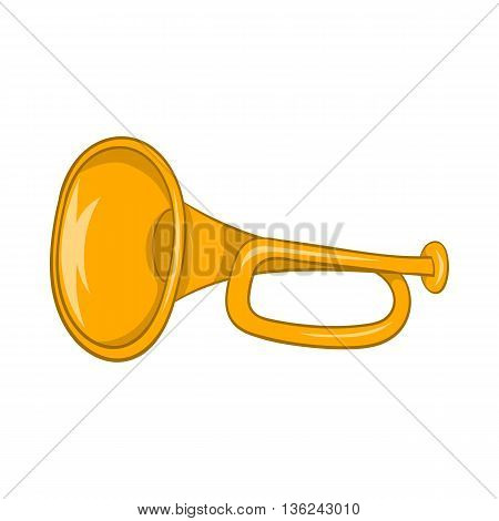 Music tube icon in cartoon style isolated on white background. Musical instrument symbol