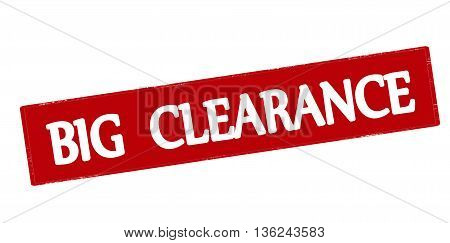Rubber stamp with text big clearance inside vector illustration