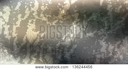 Abstract vector drawing card. attrition cracked gray with dark background