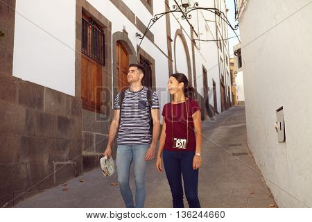 Young Tourist Couple On A Vacation