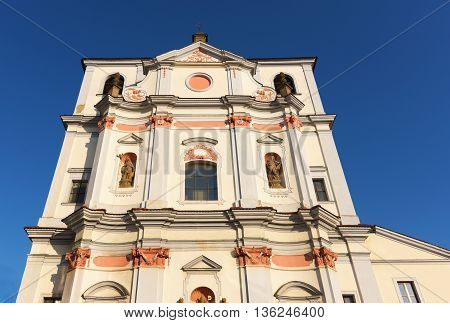 Church of St. Vojtech in Usti nad Labem with new bank near