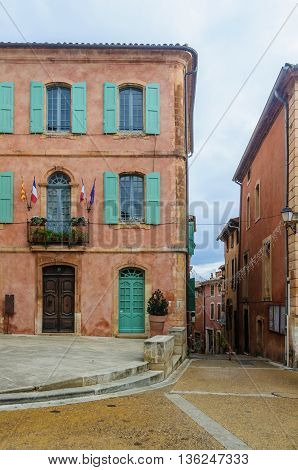 Colorful Streets In Roussillon, Provence, France