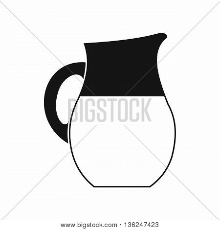 Pitcher of milk icon in simple style isolated on white background