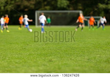 Blurred Youth Soccer Players