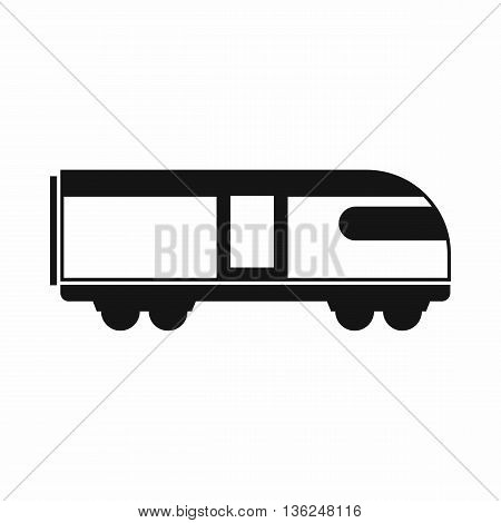 Swiss mountain train icon in simple style isolated on white background