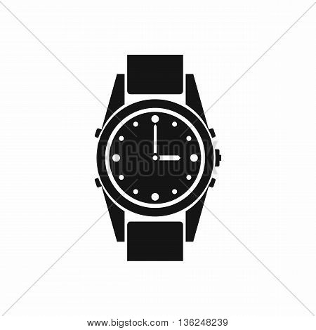 Swiss watch icon in simple style isolated on white background