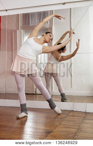 Ballerina Performing In Training Studio