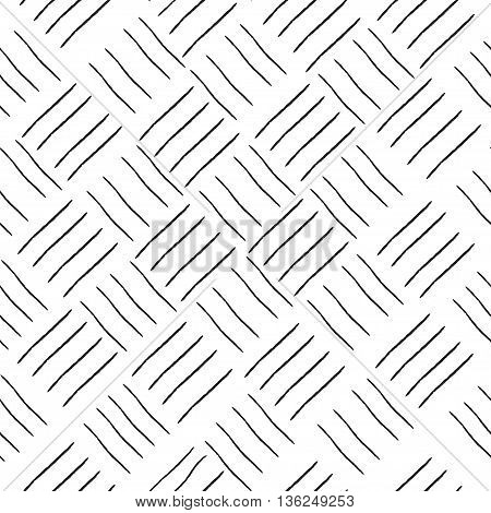 Line square geometric seamless pattern. Fashion graphic background design. Modern stylish abstract texture Monochrome template for prints textiles wrapping wallpaper website etc. VECTOR illustration