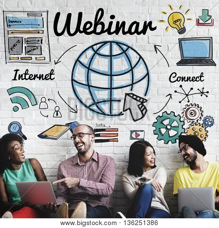 Webinar Online Technogy E-Learning Web Concept