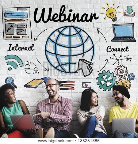 Webinar Online Technogy E-Learning Web Concept