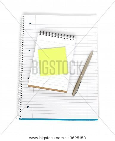 Notebook With Notepad And Sticky Note