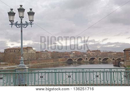 View of the New Bridge from the Bridge of Saint Pierre, Toulouse
