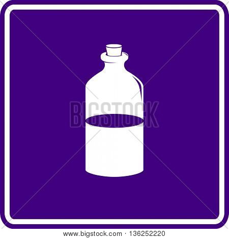 potion or medicine in glass bottle with cork lid sign