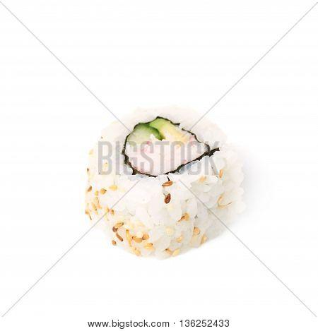 California maki sushi isolated over the white background