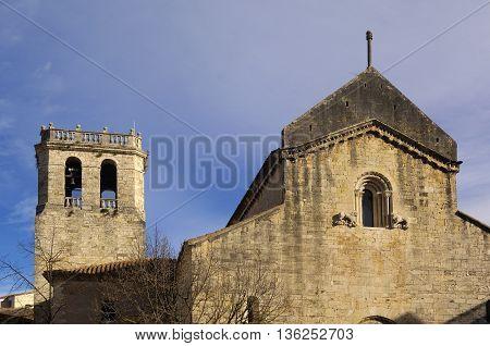 Romanesque church of Sant Pere de Besalu in the Garrotxa, Girona, Spain
