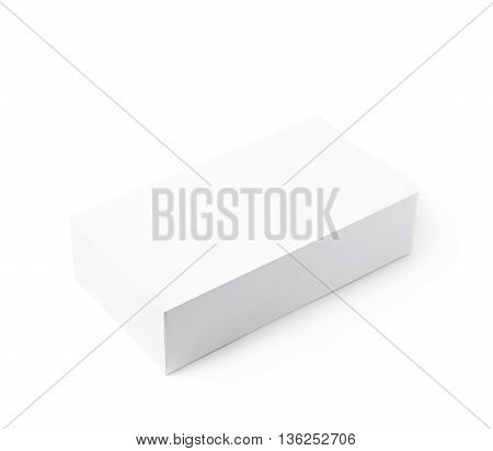 White cardboard packing box isolated over the white background