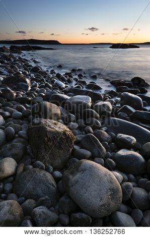 Rocky Coastline of Maine at Sunrise - Acadia National Park