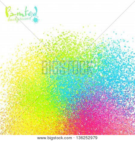 Vivid rainbow colors vector sprayed paint abstract background