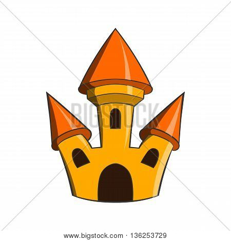 Castle icon in cartoon style on a white background