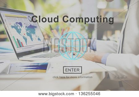 Cloud Computing Technology Online Website Concept
