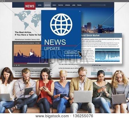 News Update Journalism Headline Media Concept