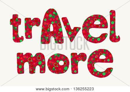 Bright Summer Travel Lettering