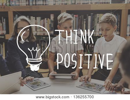 Think Positive Ideas Graphic Concept