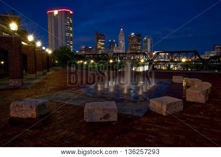 Columbus, Ohio from Northbank Park