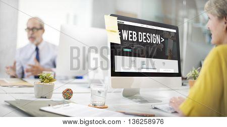Web Design Online Webpage Website Connect Concept