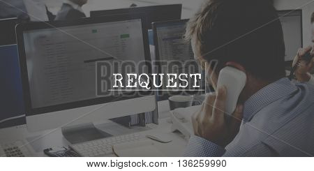 Request Appeal Business Choice Information Concept