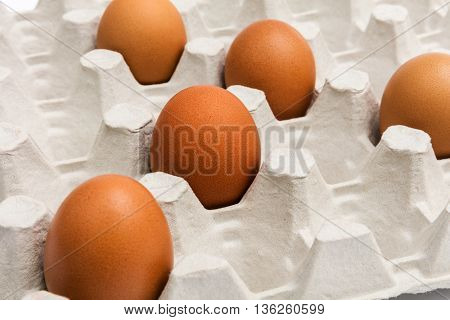 fresh eggs in the package