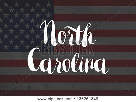 North Carolina written on flag