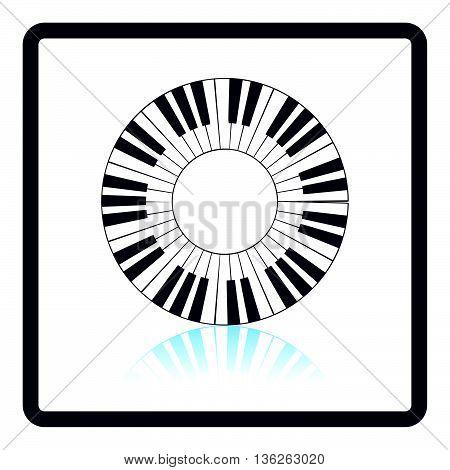 Piano Circle Keyboard Icon
