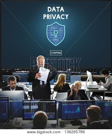Data Privacy Online Security Protection Concept