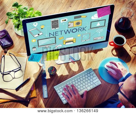 Network Networking Internet Social Media Concept
