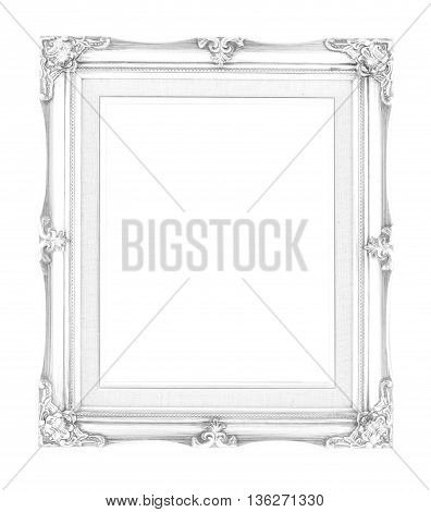 Empty Contemporary Vintage Frame With Vibrant Color Isolated On White Background